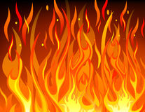 Fire background. Vector of fire flame background Stock Images