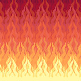 Fire background. Vector illustration of the red flame background Stock Image