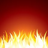 Fire Background Vector Template for Text or Design Stock Photos