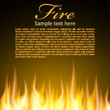 Fire background for your Design. Zip includes 300 dpi JPG, Illustrator CS, EPS10. Vector with transparency Stock Photos