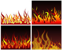 Fire backgrounds set. Inferno fire vector backgrounds set  for design use Royalty Free Stock Images