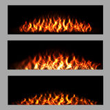 Fire Backgrounds Set Royalty Free Stock Photos