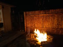 Fire, backyard royalty free stock images