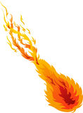 Fire Ball 02. Illustrations of vector Fire Ball 02 Royalty Free Stock Images
