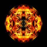 Fire ball. Illustration of abstract fire ball on black background Royalty Free Stock Photos