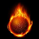 Fire ball. Illustration on black background for design Royalty Free Stock Images