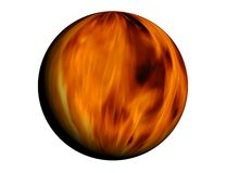 Fire ball. Sphere full of fire - based on real fire photo Stock Image