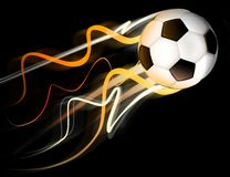Fire ball. Soccer ball with flames Stock Photo