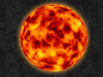 Fire ball. Computer generated fire ball imitating Sun Royalty Free Stock Photo