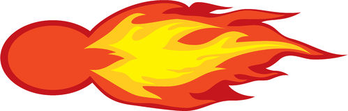 Fire ball. Vector illustration Royalty Free Stock Photography