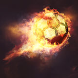 Fire ball. Abstract sport soccer and football backgrounds Royalty Free Stock Photography