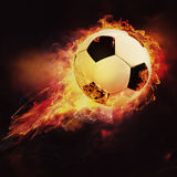 Fire ball. Abstract sport soccer and football backgrounds Stock Photos