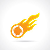 Fire ball artwork with hands Royalty Free Stock Image