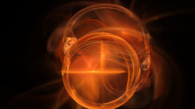 Fire ball curves and circles abstract background. Red fire ball curves and circles abstract background 3D Stock Photo