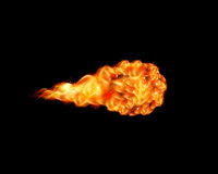 Fire ball. With free space Stock Images