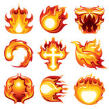 Fire ball Icon White Background. Fire ball icon vector on white background Royalty Free Stock Photos