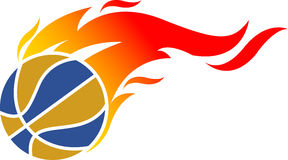 Fire ball logo. Illustration art of a fire ball logo with isolated background Stock Images