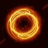Fire ball. Orange electrical fire ball. Power concept Stock Images