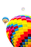 Fire balloon Stock Photo