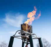 Fire from balloon flight Royalty Free Stock Photos