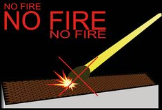 Fire ban. Obligation Royalty Free Stock Images