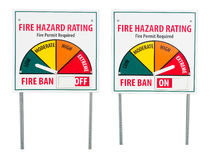 Fire Ban Hazard Sign Royalty Free Stock Photo