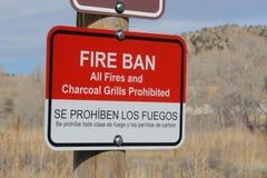 Fire Ban sign Royalty Free Stock Photos