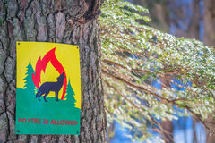 Fire ban sign Royalty Free Stock Images