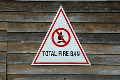 Fire Ban Sign Royalty Free Stock Image