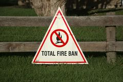 Fire Ban Sign Stock Photography