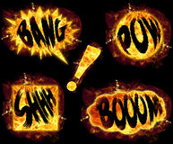 Fire Bang Boom Pow Shhh ! Stock Image
