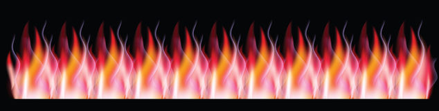 Fire,banner Stock Image
