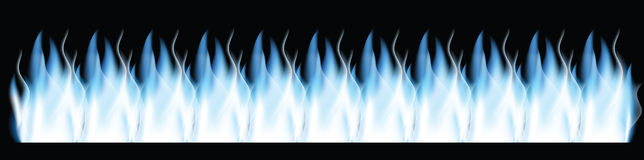 Fire,banner. Fire on the black background,banner Stock Image