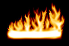 Fire banner. With copy space Stock Image