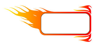 Fire banner. With place for your text Stock Photo