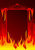 Fire banner. With place for your text Royalty Free Stock Photos