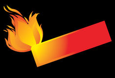 Fire-banner background. Stock Photo