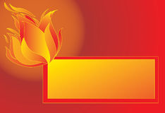 Fire-banner background. Stock Image