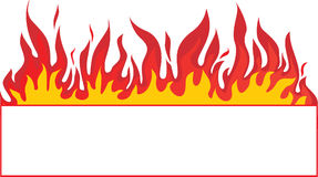 Fire-banner background. Abstract vector Royalty Free Stock Images