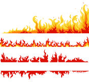 Fire banner, fame backgrounds, vector Stock Photography