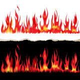 Fire banners. 2 banners of fire flames make with mesh Royalty Free Stock Image
