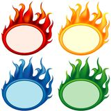 Fire-banners. Detailed vector banners as illustration with flame effects Royalty Free Stock Images