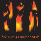 Fire banners vector background Royalty Free Stock Image
