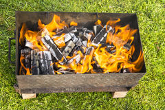 Fire for barbecue Royalty Free Stock Image