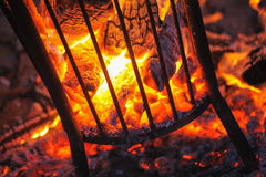 Fire basket Royalty Free Stock Images