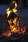 Fire basket Royalty Free Stock Photo