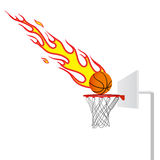 Fire Basketball Royalty Free Stock Photography