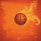 Fire Basketball Ball Stock Photos