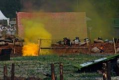 Fire on the battle field. Stock Photos