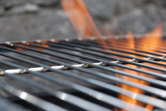 Fire on BBQ - Royalty Free Stock Photos